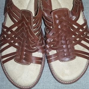 Brown Leather Size 11 Dr. Scholls Sandals